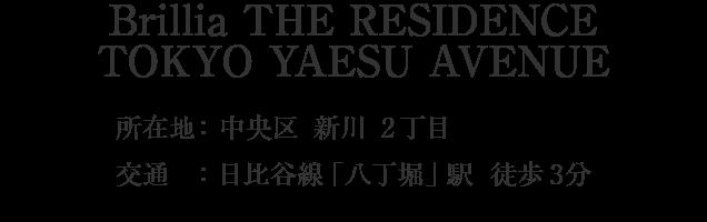 Brillia THE RESIDENCE TOKYO YAESU AVENUE・中央区新川2丁目・「八丁堀」駅 徒歩3分