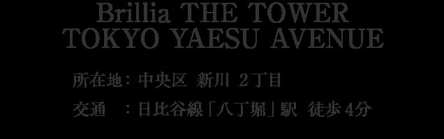 Brillia THE TOWER TOKYO YAESU AVENUE・中央区新川2丁目・「八丁堀」駅 徒歩1分