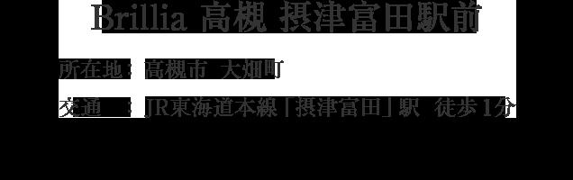 Brillia 高槻摂津富田駅前・高槻市大畑町・「摂津富田」駅 徒歩1分