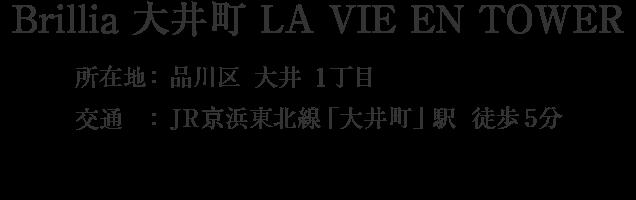 Brillia 大井町 LA VIE EN TOWER・品川区大井1丁目・JR京浜東北線「大井町」駅 徒歩5分