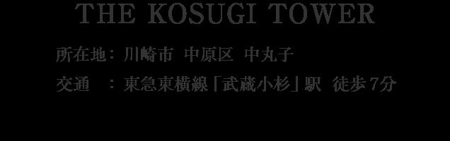 THE KOSUGI TOWER・川崎市中原区中丸子・「武蔵小杉」駅 徒歩4分
