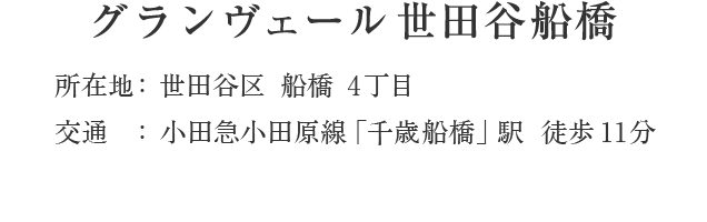 東京都世田谷区船橋4丁目・「千歳船橋」駅 徒歩11分