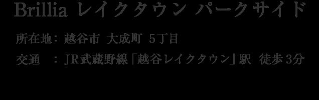 埼玉県越谷市レイクタウン8丁目・「越谷レイクタウン」駅 徒歩3分