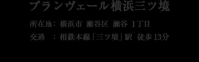 神奈川県横浜市瀬谷区瀬谷1丁目・「三ツ境」駅 徒歩13分