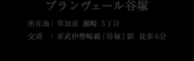 埼玉県草加市瀬崎3丁目・「谷塚」駅 徒歩6分