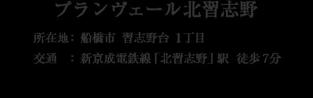 千葉県船橋市習志野台1丁目・「北習志野」駅 徒歩7分