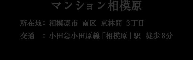 神奈川県相模原市南区東林間3丁目・「小田急相模原」駅 徒歩8分