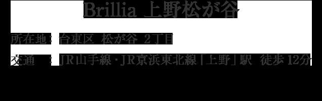 Brillia 上野松が谷・台東区松が谷2丁目・「浅草」駅 徒歩7分