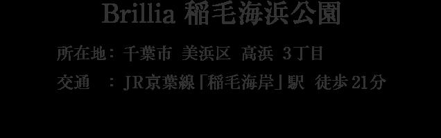 Brillia 稲毛海浜公園 ・千葉市美浜区高浜3丁目・「稲毛海岸」駅 徒歩21分