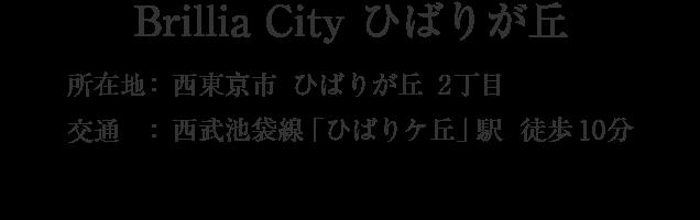 Brillia City ひばりが丘・西東京市ひばりが丘2丁目・「ひばりヶ丘」駅 徒歩10分