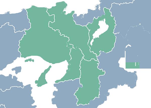 検索地域マップ(関西)