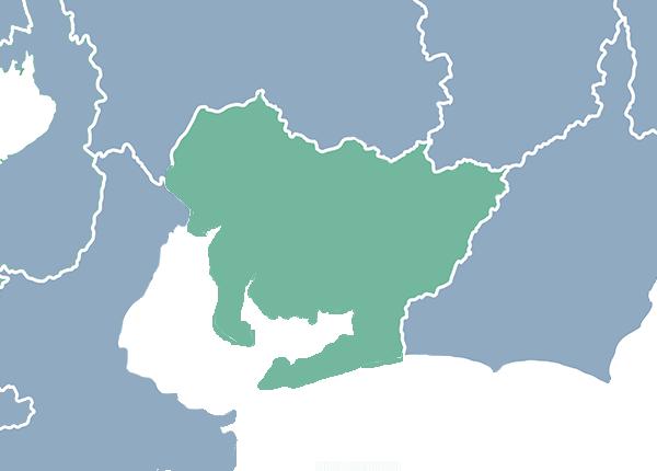 検索地域マップ(東海)
